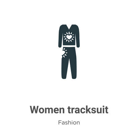 Women tracksuit vector icon on white background. Flat vector women tracksuit icon symbol sign from modern fashion collection for mobile concept and web apps design.
