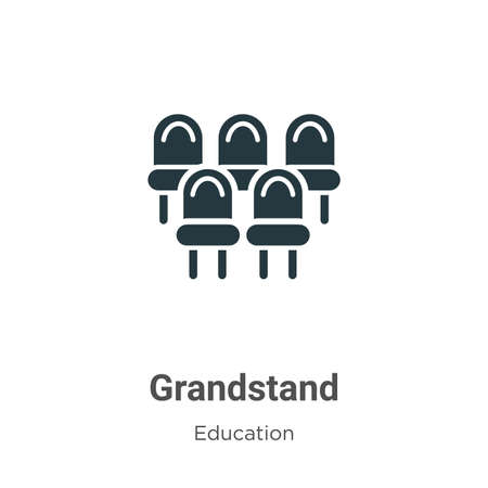 Grandstand vector icon on white background. Flat vector grandstand icon symbol sign from modern education collection for mobile concept and web apps design.