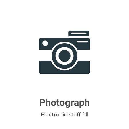 Photograph vector icon on white background. Flat vector photograph icon symbol sign from modern electronic stuff fill collection for mobile concept and web apps design.