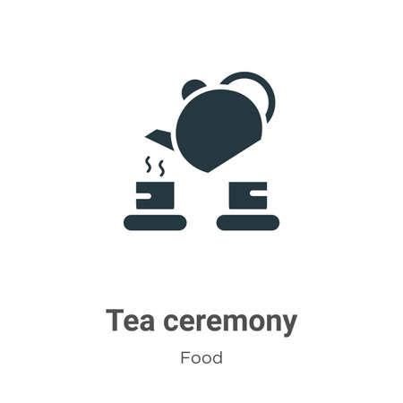 Tea ceremony vector icon on white background. Flat vector tea ceremony icon symbol sign from modern food collection for mobile concept and web apps design.