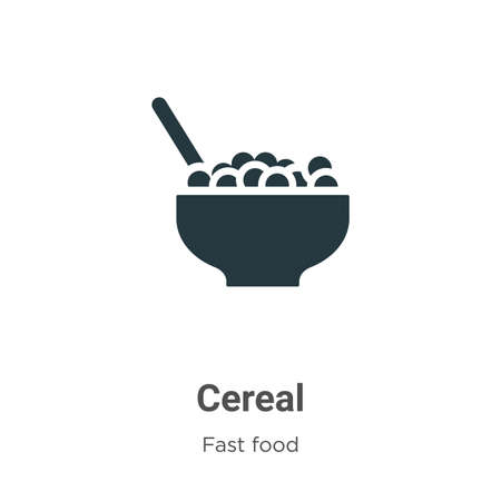Cereal vector icon on white background. Flat vector cereal icon symbol sign from modern fast food collection for mobile concept and web apps design.