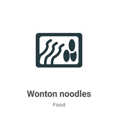 Wonton noodles vector icon on white background. Flat vector wonton noodles icon symbol sign from modern food collection for mobile concept and web apps design.