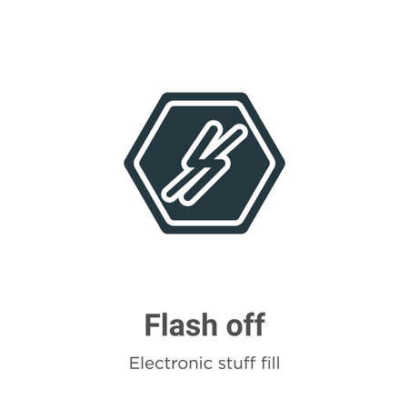 Flash off vector icon on white background. Flat vector flash off icon symbol sign from modern electronic stuff fill collection for mobile concept and web apps design.