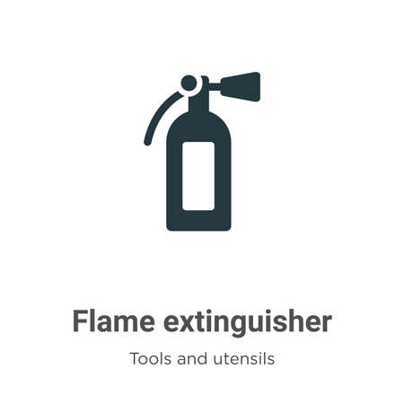 Flame extinguisher vector icon on white background. Flat vector flame extinguisher icon symbol sign from modern tools and utensils collection for mobile concept and web apps design.