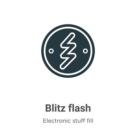 Blitz flash vector icon on white background. Flat vector blitz flash icon symbol sign from modern electronic stuff fill collection for mobile concept and web apps design.
