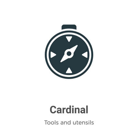 Cardinal vector icon on white background. Flat vector cardinal icon symbol sign from modern tools and utensils collection for mobile concept and web apps design.