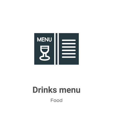 Drinks menu vector icon on white background. Flat vector drinks menu icon symbol sign from modern food collection for mobile concept and web apps design.