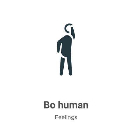 Bored human vector icon on white background. Flat vector bored human icon symbol sign from modern feelings collection for mobile concept and web apps design.