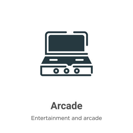 Arcade vector icon on white background. Flat vector arcade icon symbol sign from modern entertainment and arcade collection for mobile concept and web apps design. Ilustração