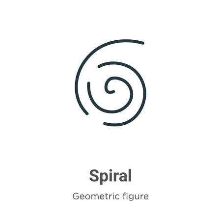 Spiral vector icon on white background. Flat vector spiral icon symbol sign from modern geometric figure collection for mobile concept and web apps design. 向量圖像
