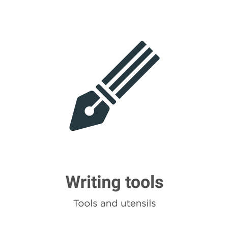 Writing tools vector icon on white background. Flat vector writing tools icon symbol sign from modern tools and utensils collection for mobile concept and web apps design. Ilustracja