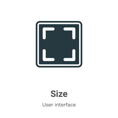 Size vector icon on white background. Flat vector size icon symbol sign from modern user interface collection for mobile concept and web apps design.