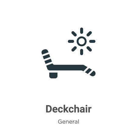 Deckchair vector icon on white background. Flat vector deckchair icon symbol sign from modern general collection for mobile concept and web apps design.