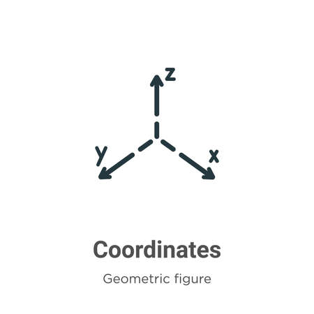 Coordinates vector icon on white background. Flat vector coordinates icon symbol sign from modern geometric figure collection for mobile concept and web apps design.
