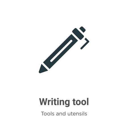 Writing tool vector icon on white background. Flat vector writing tool icon symbol sign from modern tools and utensils collection for mobile concept and web apps design.