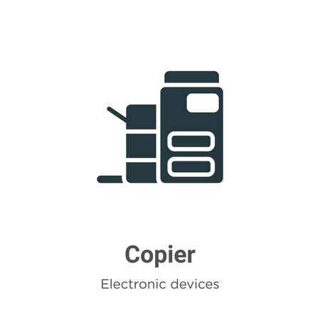 Copier vector icon on white background. Flat vector copier icon symbol sign from modern electronic devices collection for mobile concept and web apps design. Ilustrace