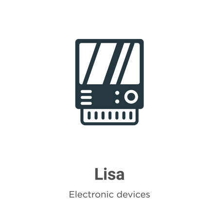 Lisa vector icon on white background. Flat vector lisa icon symbol sign from modern electronic devices collection for mobile concept and web apps design. Vector Illustration