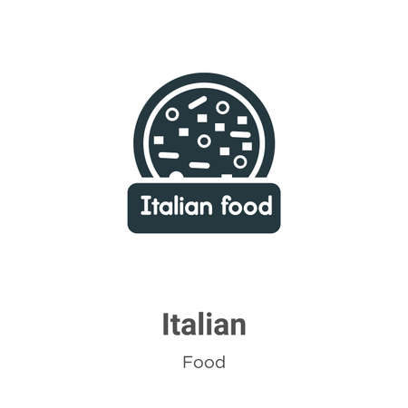 Italian vector icon on white background. Flat vector italian icon symbol sign from modern food collection for mobile concept and web apps design.