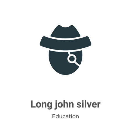 Long john silver vector icon on white background. Flat vector long john silver icon symbol sign from modern literature collection for mobile concept and web apps design.
