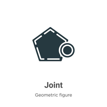 Joint vector icon on white background. Flat vector joint icon symbol sign from modern geometric figure collection for mobile concept and web apps design. Illustration
