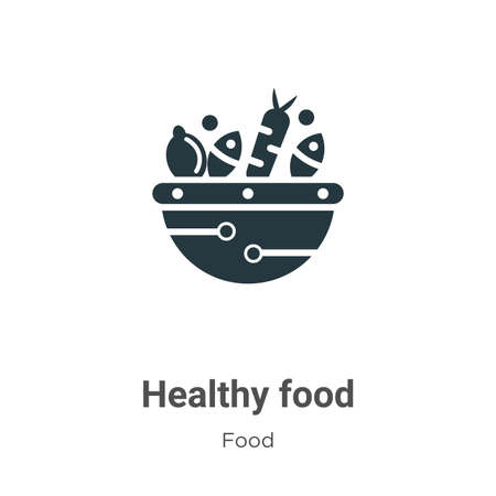Healthy food vector icon on white background. Flat vector healthy food icon symbol sign from modern food collection for mobile concept and web apps design.