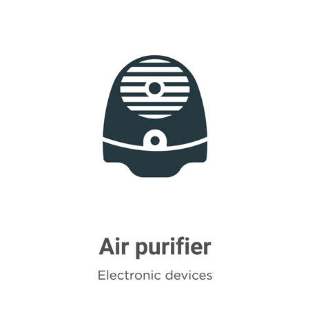 Air purifier vector icon on white background. Flat vector air purifier icon symbol sign from modern electronic devices collection for mobile concept and web apps design.