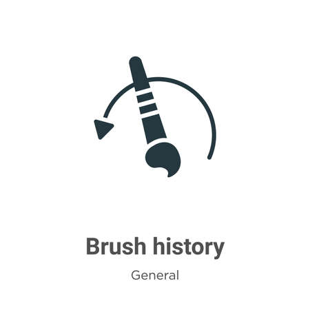 Brush history vector icon on white background. Flat vector brush history icon symbol sign from modern general collection for mobile concept and web apps design.