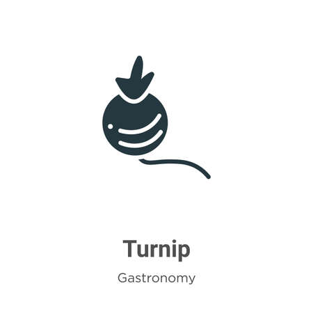 Turnip vector icon on white background. Flat vector turnip icon symbol sign from modern gastronomy collection for mobile concept and web apps design. Ilustracja