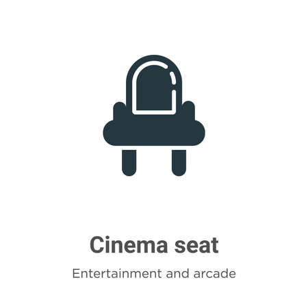 Cinema seat vector icon on white background. Flat vector cinema seat icon symbol sign from modern entertainment and arcade collection for mobile concept and web apps design. Stock Illustratie