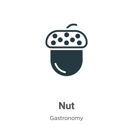 Nut vector icon on white background. Flat vector nut icon symbol sign from modern gastronomy collection for mobile concept and web apps design.