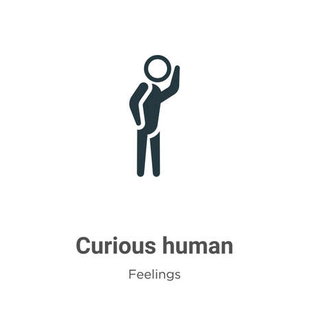 Curious human vector icon on white background. Flat vector curious human icon symbol sign from modern feelings collection for mobile concept and web apps design.
