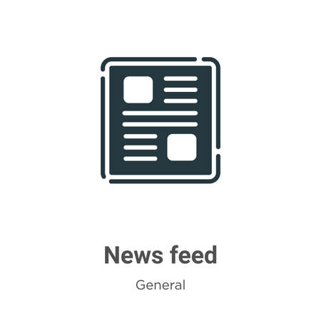 News feed vector icon on white background. Flat vector news feed icon symbol sign from modern general collection for mobile concept and web apps design.