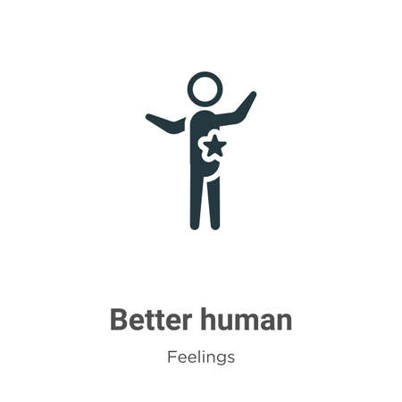 Better human vector icon on white background. Flat vector better human icon symbol sign from modern feelings collection for mobile concept and web apps design. Illustration