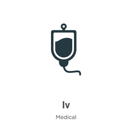 Iv vector icon on white background. Flat vector iv icon symbol sign from modern medical collection for mobile concept and web apps design. Иллюстрация