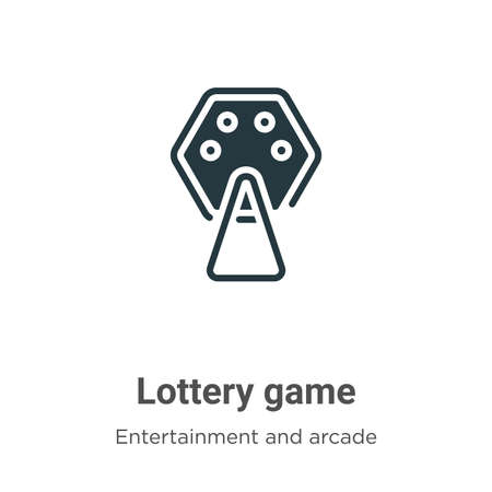 Lottery game vector icon on white background. Flat vector lottery game icon symbol sign from modern entertainment and arcade collection for mobile concept and web apps design. Ilustracja
