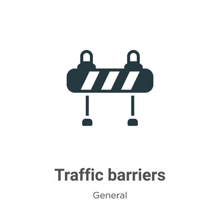 Traffic barriers vector icon on white background. Flat vector traffic barriers icon symbol sign from modern general collection for mobile concept and web apps design. 向量圖像