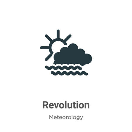 Revolution vector icon on white background. Flat vector revolution icon symbol sign from modern meteorology collection for mobile concept and web apps design.