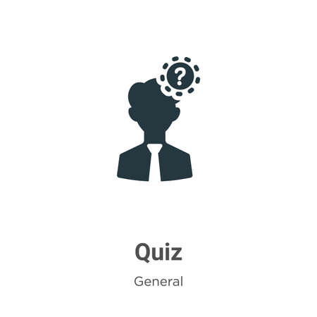 Quiz vector icon on white background. Flat vector quiz icon symbol sign from modern general collection for mobile concept and web apps design.