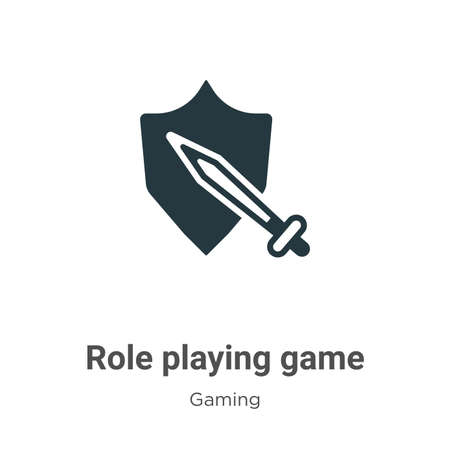 Role playing game vector icon on white background. Flat vector role playing game icon symbol sign from modern gaming collection for mobile concept and web apps design.