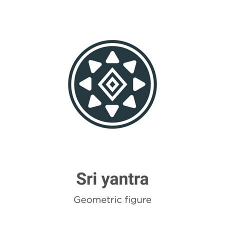 Sri yantra vector icon on white background. Flat vector sri yantra icon symbol sign from modern geometry collection for mobile concept and web apps design.