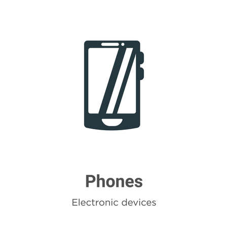 Phones vector icon on white background. Flat vector phones icon symbol sign from modern electronic devices collection for mobile concept and web apps design.