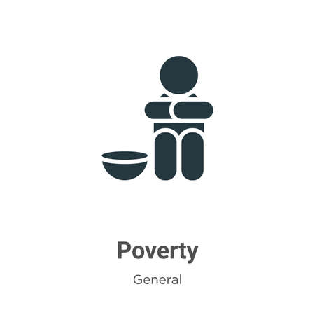 Poverty vector icon on white background. Flat vector poverty icon symbol sign from modern general collection for mobile concept and web apps design. 일러스트