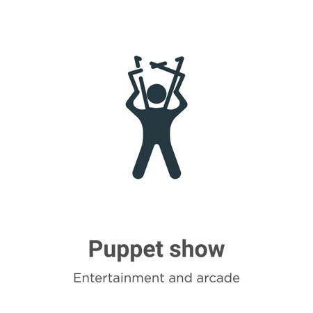 Puppet show vector icon on white background. Flat vector puppet show icon symbol sign from modern entertainment and arcade collection for mobile concept and web apps design.