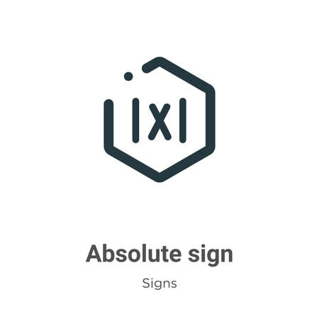 Absolute sign vector icon on white background. Flat vector absolute sign icon symbol sign from modern signs collection for mobile concept and web apps design.