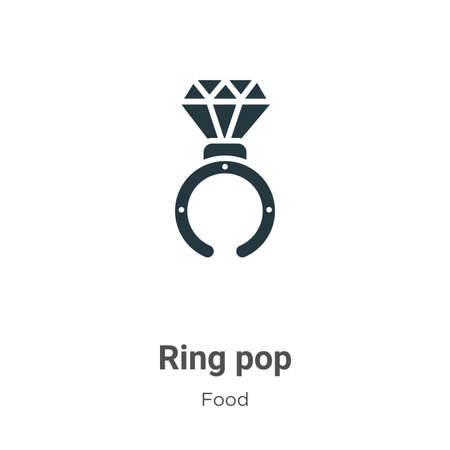 Ring pop vector icon on white background. Flat vector ring pop icon symbol sign from modern food collection for mobile concept and web apps design.