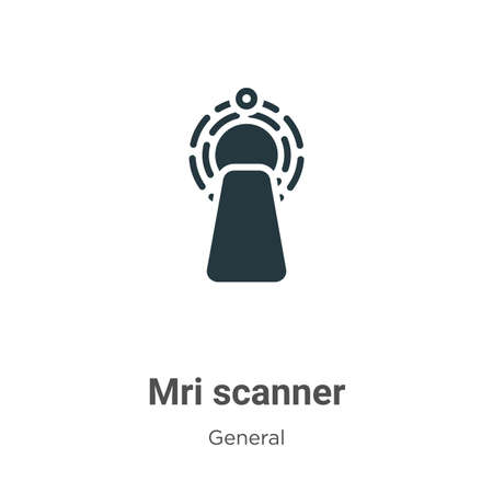 Mri scanner vector icon on white background. Flat vector mri scanner icon symbol sign from modern general collection for mobile concept and web apps design.