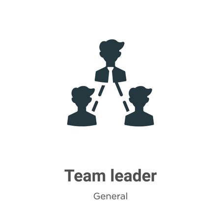 Team leader vector icon on white background. Flat vector team leader icon symbol sign from modern general collection for mobile concept and web apps design.