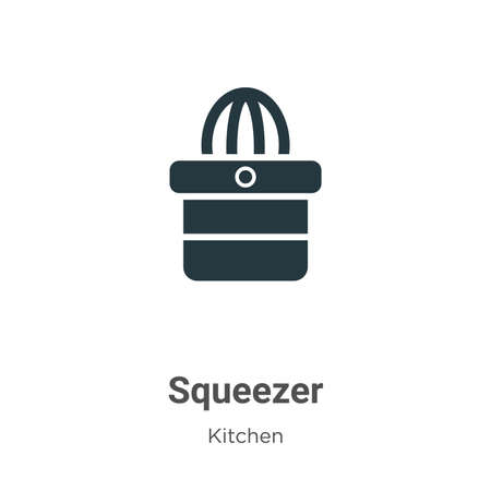Squeezer vector icon on white background. Flat vector squeezer icon symbol sign from modern kitchen collection for mobile concept and web apps design.