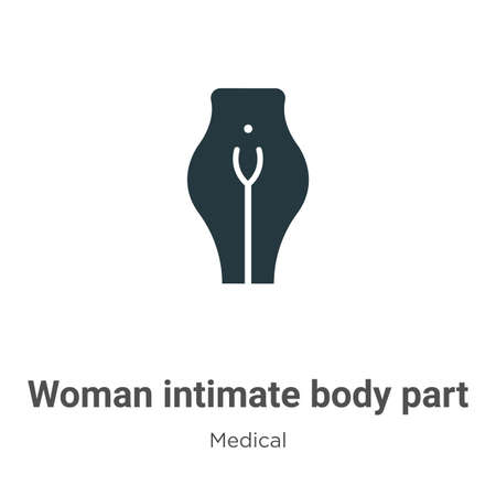 Woman intimate body part vector icon on white background. Flat vector woman intimate body part icon symbol sign from modern medical collection for mobile concept and web apps design.