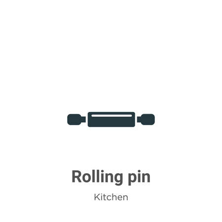 Rolling pin vector icon on white background. Flat vector rolling pin icon symbol sign from modern kitchen collection for mobile concept and web apps design.